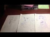 Мои рисунки Monster High + новый лесной монстр )