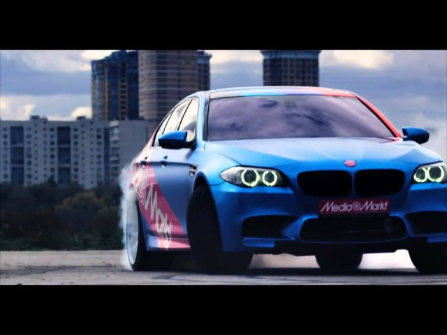 Дрифт на BMW М5, креативная реклама от Mediamarkt