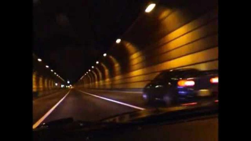 Nissan Skyline R34 Mazda RX7 wangan streetracing in Japan