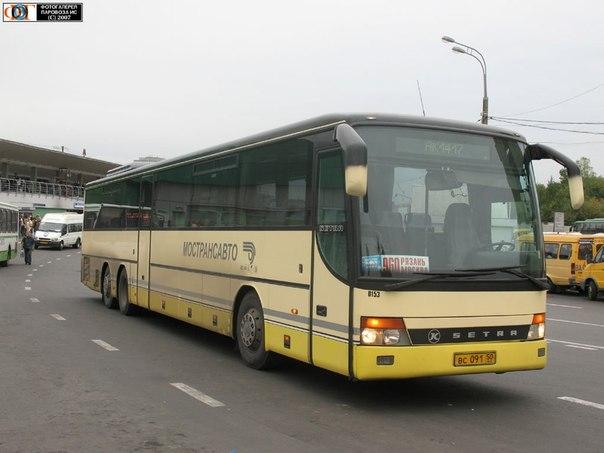 Рязань москва автобус