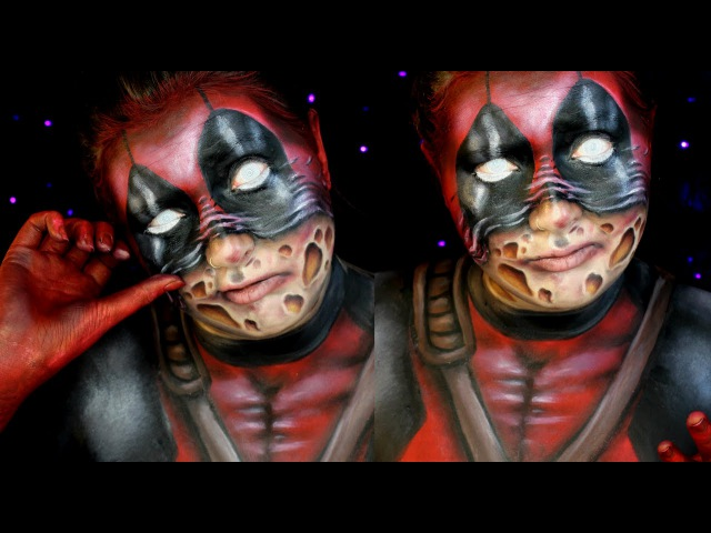 Deadpool Scarface Halloween Makeup Tutorial | Jordan Hanz