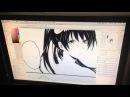 Мики рисует мангу
