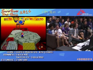 SGDQ 2014 Super Mario 64 120 Stars Speed Run in 1:48:57 by Siglemic #SGDQ2014
