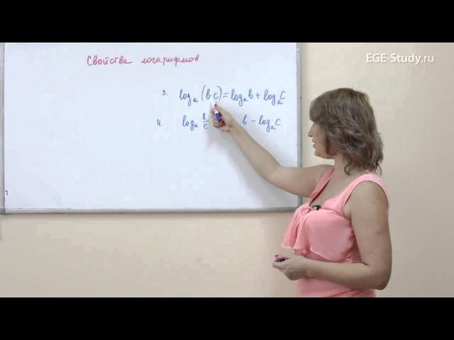 13. Алгебра Свойства логарифмов. Формулы с логарифмами.