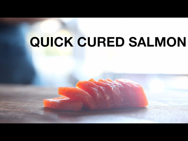 Quick-Cured Salmon Crudo Recipe • ChefSteps