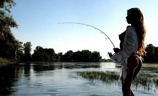 картинки девушек рыбаков