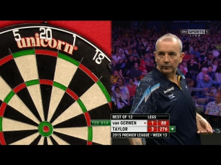 Michael van Gerwen v Phil Taylor (2015 Premier League Darts / Week 13)