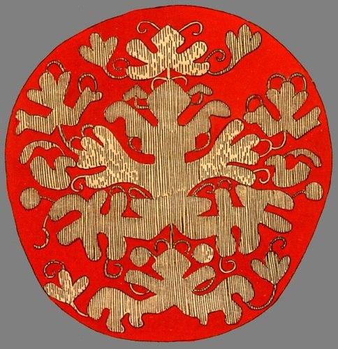 Прорисовка макушки северорусского повойника