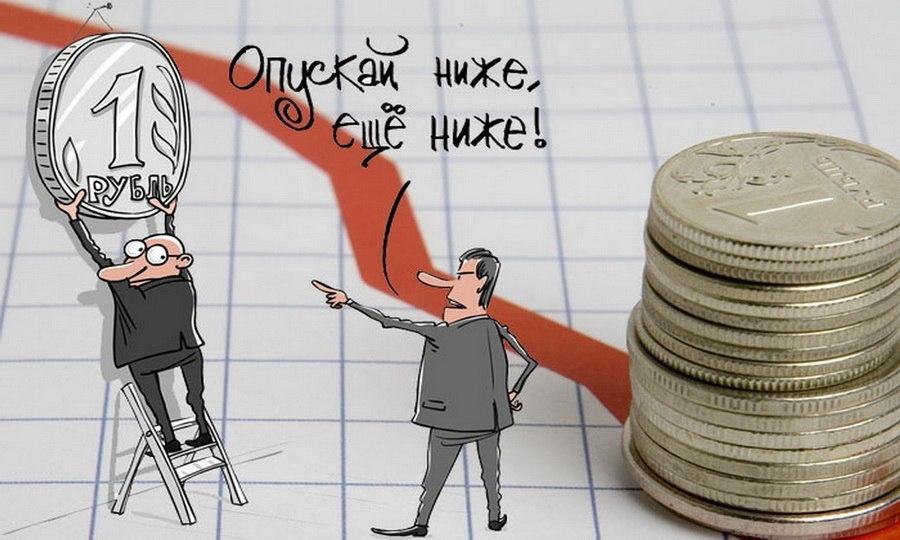 снижение рубля