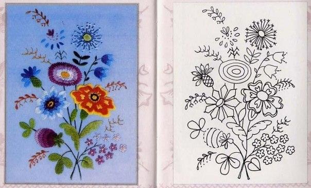 Imagenes De Flores Para Bordar Con Cinta Imagui