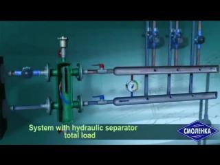 Движение жидкости в гидравлическом разделителе (гидрострелке)