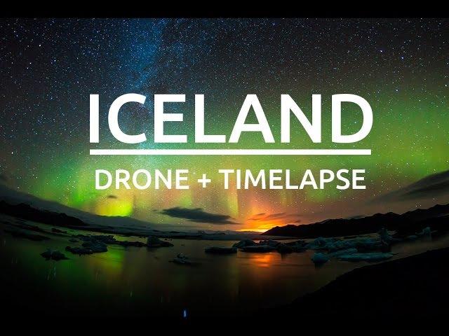 Исландия видео снятое с помощью дронов, Timelapse, Drone Phantom II Gimbal H3-3D GoPro Hero3 Black Edition