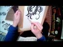 Хохлома МК № 5 Травная птица . Khokhloma how to paint a bird. Hohloma Malmuster Vogel.
