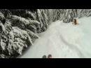 Мега спуск на лыжах по лесу