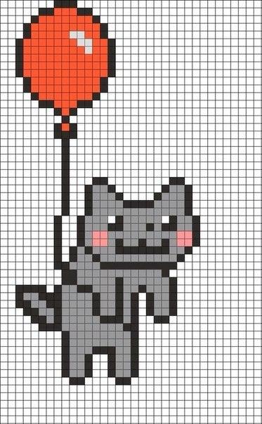 Схема кота по клеточкам