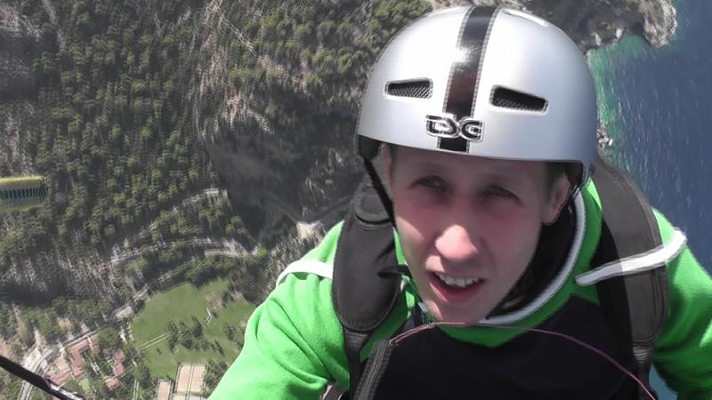 Второй полет на параплане с горы Бабадаг в Олюденизе Турция Попытка долететь до долины бабочек