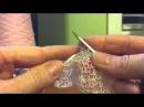 Вязание нупов с двойными накидами