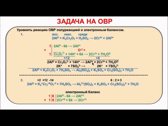 № 111. Неорганическая химия. Тема 11. ОВР. Часть 24. Задачи
