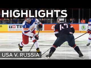 Овечкин и Мозякин не дали единого шанса сборной США и вывели Россию в финал чемпионата мира Russia roll past Usa | #IIHFWorlds 2015