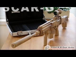 ゴム銃 SCAR - G セミ/フル切換え式 25連発 アサルトライフル - rubber band gun