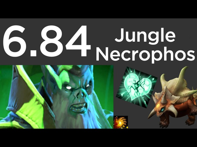 6.84 Necrophos Jungle Guide: Heartstopper Ancients - Level 6 Midas 6m (Dota 2, May 2015)