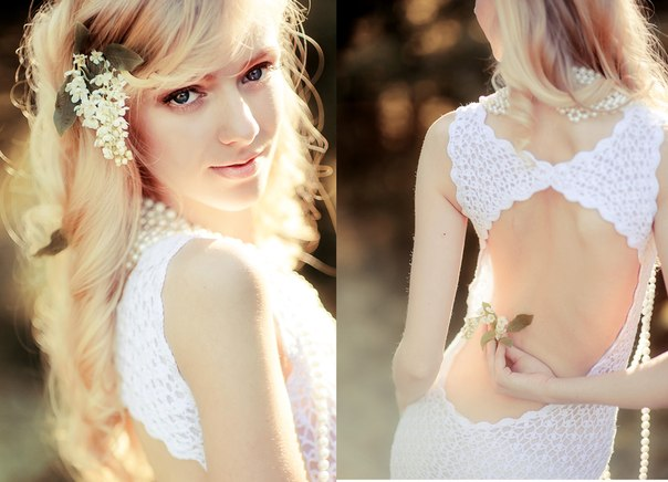 Вязанное крючком платье от Анастасии Шокшиной… (4 фото) - картинка