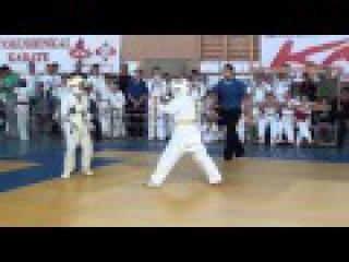 Клейнман Даниил 1 бой Самурай - Первенство Светлограда 27 октября 2015 Киокушинкай каратэ