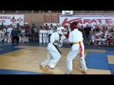 Овсепьян Альберт 1 бой Самурай - Первенство Светлограда 27 октября 2015 Киокушинкай каратэ