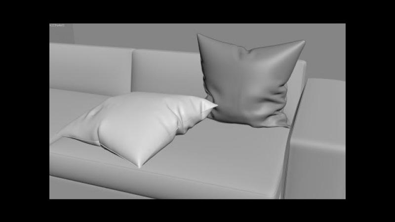 Уроки 3Ds Max с нуля - Создание подушки модификатором Cloth