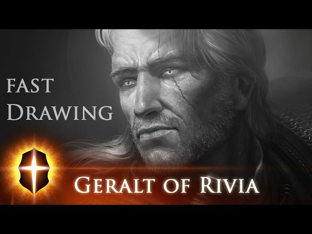 Geralt of Rivia - Fast Drawing (New Monochrome Format) by TAMPLIER 2015