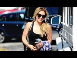 Hilary Duff Arriving at Rise Movement GYM in West Hollywood on August 14th