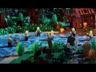 ЛЕГО Мультфильм Scooby-Doo - Creaky Creep Out - Stop Motion Mini Movie