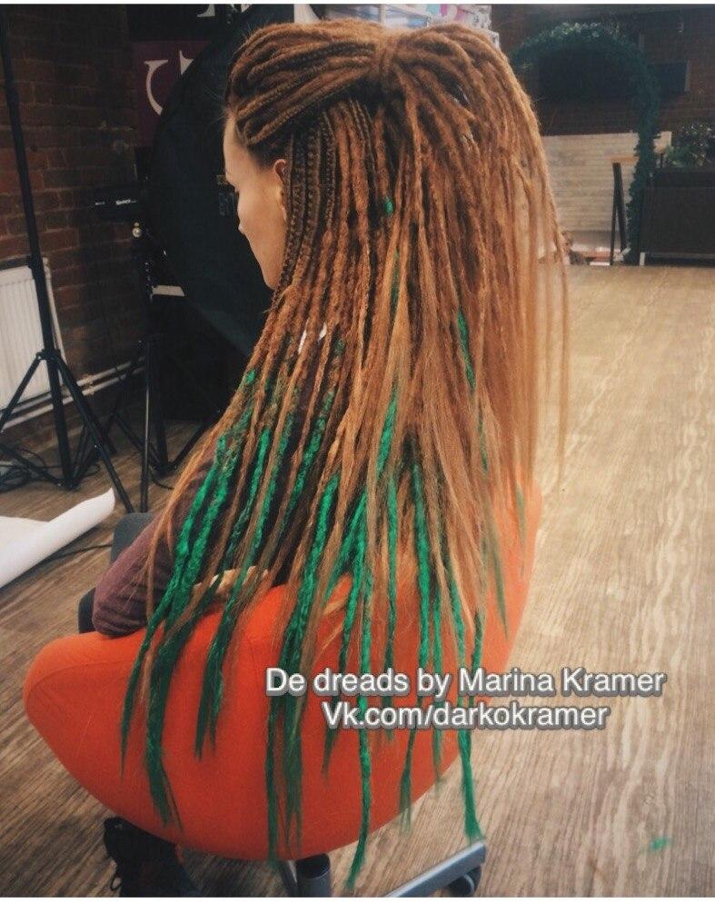 Как сделать дреды длинные волосы
