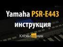 Синтезатор Yamaha PSR E443. Инструкция и обзор. Полная версия.