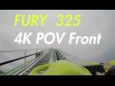 Fury 325 4K POV Front Row Carowinds Giga Coaster 2015