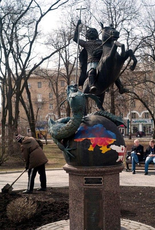 У Георгия Победоносца. Фото Александра Стринадко
