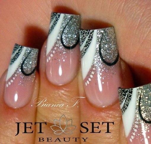 Дизайн нарощенных ногтей пошаговый фото