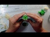 Shamrock/Clover Polymer Clay Cane