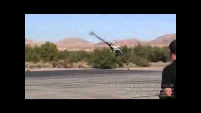 Высший пилотаж на радиоуправляемом вертолете