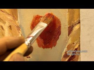 Этюд простого предмета (яблоко) - Обучение живописи. Масло. Введение, 4 серия » Freewka.com - Смотреть онлайн в хорощем качестве