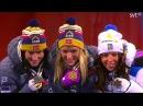 Тереза Йохауг, Марит Бьорген, Харлотт Калла - медальная церемония 30км классикой - VM Falun 2015