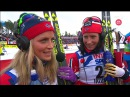 Интервью Терезы Йохауг и Марит Бьорген (Чемпионат Мира 2015, Фалун)