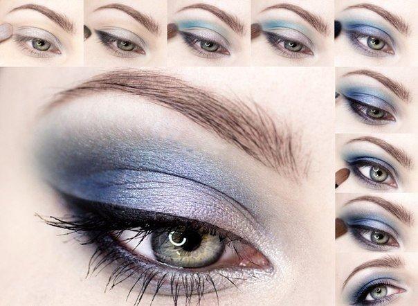 пошагового макияжа глаз в