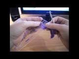 Как вязать вытянутые петли с обвязкой, брумстик ?