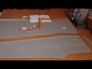 Как раскроить брюки сразу на ткани: ПП