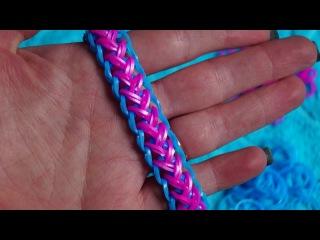 Браслет из резинок rainbow loom