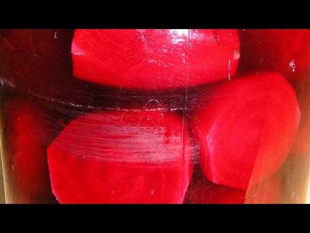 Свёкла консервированная без уксуса / Canned beets without vinegar ♡ English subtitles