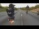 HAYABUSA Motorcycle STUNTS On Highway WHEELIES + DRIFTING BUSA GSXR 1300 Street Bike Stunt Riding