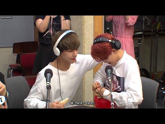 [ENG SUB] 150702 Super Junior's Kiss the Radio - BTS Jimin's Mission VMIN CUT