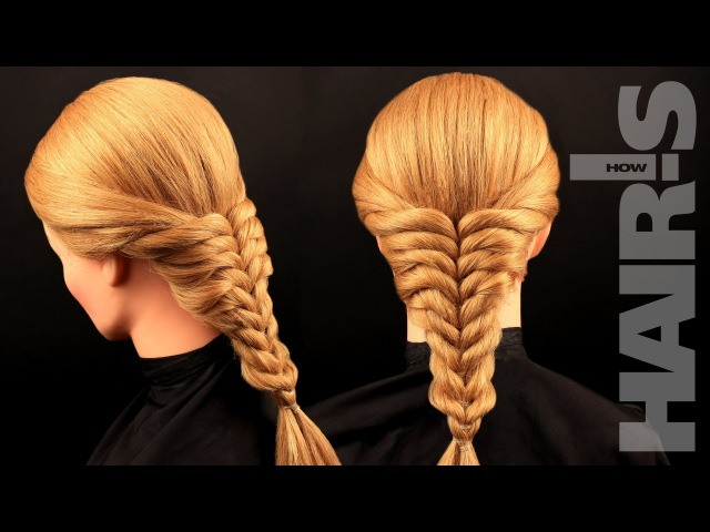 Коса с резинками фото пошагово на короткие